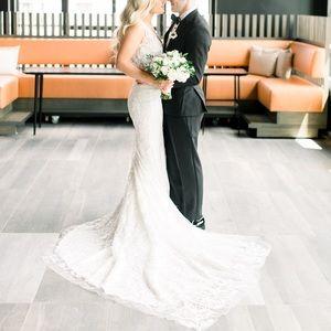 Pnina Tornai LOVE collection wedding dress + veil